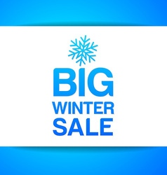 big winter sale vector image
