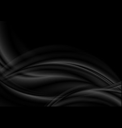 black and grey abstract smooth wavy background vector image