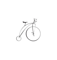 black bicycle isolated on a white background vector image