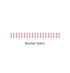 Blanket stitch - textile sewing seam in geometric vector