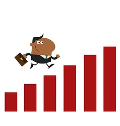 Businessman Running with Growth vector image