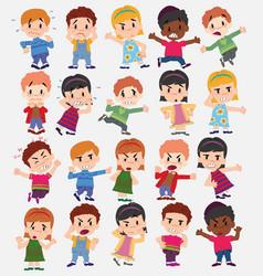 Cartoon character boys and girls set vector