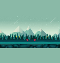 Cartoon night game background seamless vector