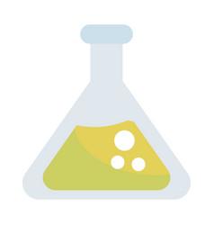 Chemistry beaker glass cartoon vector