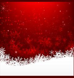 christmas snowflake and starlight abstract vector image