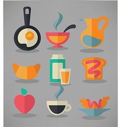 common breakfast vector image