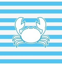 crab nautical emblem image vector image