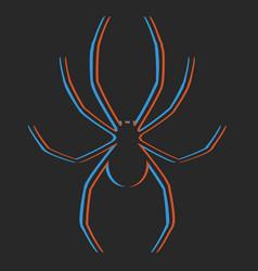creative spider design vector image