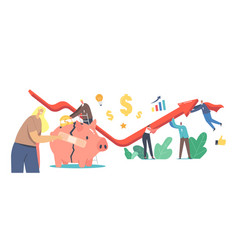 Economic recovery concept business people vector