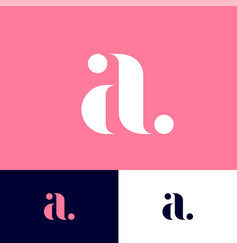 elegant a monogram with dots vector image