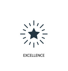 excellence icon simple element vector image