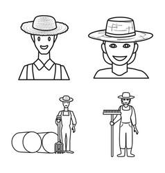 Farm and arable symbol set vector
