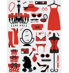 Fashion stuff vector