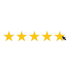 Five star icons for consumer satisfaction ratings vector