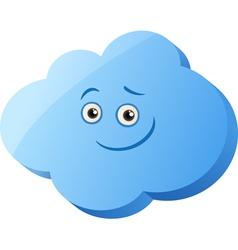 Funny cloud cartoon vector