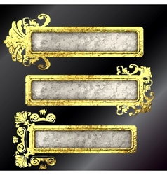 golden frames set vector image