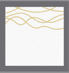 golden or bronze color round chain realistic vector image