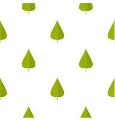Green poplar leaf pattern seamless vector
