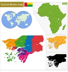 Guinea-Bissau map vector image