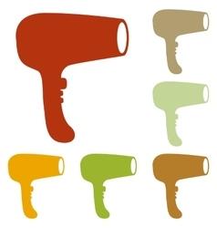 Hair Dryer sign vector