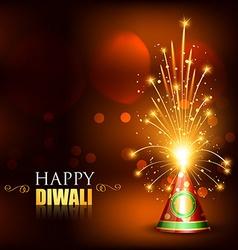 Happy diwali crackers vector