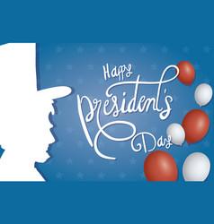 Happy presidents day balloons helium vector