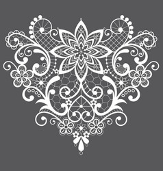 heart lace design - valentines day vector image