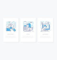 human resources - line design style banners set vector image