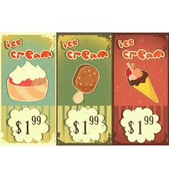 ice cream price vector image