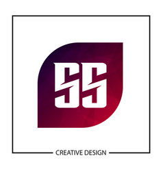 initial letter ss logo template design vector image
