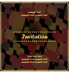 Invitation card with decorative color shapes vector
