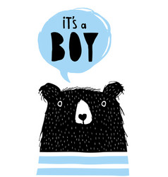 it is a boy hand drawn vector image