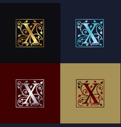 letter x decorative logo vector image