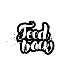 lettering feed back vector image