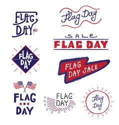 Logos and labels flag day vector