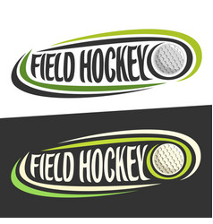 Logos for field hockey vector