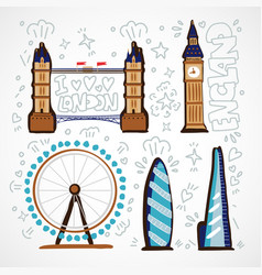 london skyline abstract with vector image