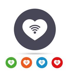 love wifi sign wi-fi symbol wireless network vector image