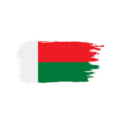 madagascar flag vector image