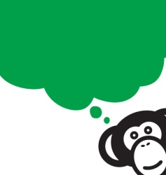 Monkey talk vector
