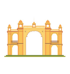 Mumbai gateway india monument vector