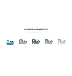 ocean transportation icon in different style two vector image