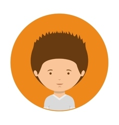 Orange of half body man with t-shirt vector