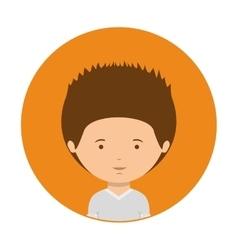 orange of half body man with t-shirt vector image