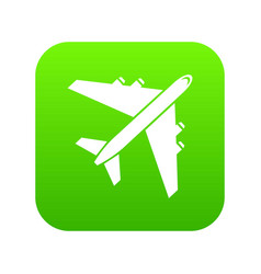passenger airliner icon digital green vector image