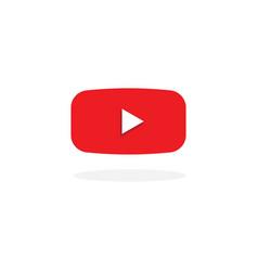 Play button youtube icon design vector