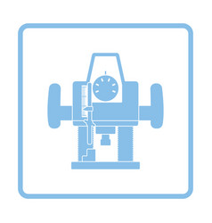 Plunger milling cutter icon vector