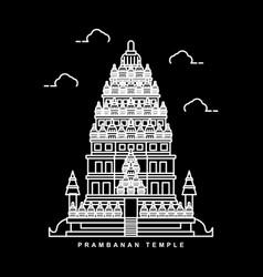 prambanan temple indonesia historical building vector image