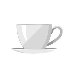 Pretty template of tea-cup vector