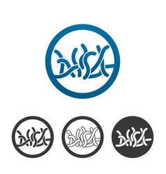 probiotic bacteria icon vector image